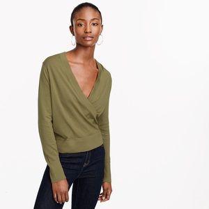 J.Crew Merino Wrap Green Sweater
